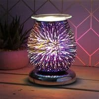 Touch Sensitive Round Electric Wax Melt Burner - Purple Firework | Bonnebombe